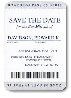 Passport #Save #the #Date #Card