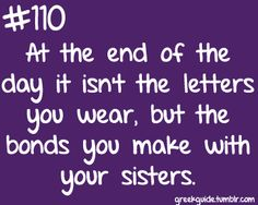 Bonds you make with your sisters