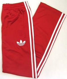 Red Pants | Track Pants (Bottoms) in Red/White,Adidas Originals Track Pant ...