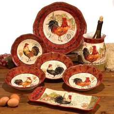 Gorgeous Chicken Dinner ware.
