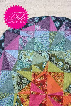 Quilt Tula Pink Birds Bees Scrappy Patchwork Lap Throw Colorful ... : tula pink quilt kits - Adamdwight.com