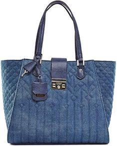 GUESS Women s Kalen Carryall Denim Handbag  Handbags  Amazon.com e6ec792133f92