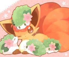 [#cute] Vulpix & Shaymin :3