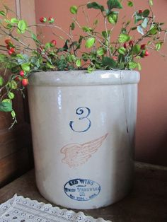 3 gallon Red Wing Crock