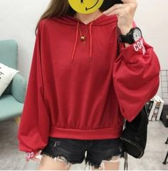 Wholesale price: US$ 8.00 Cheapest New Fashion Large Size Long Sleeve Hooded Sweater Red
