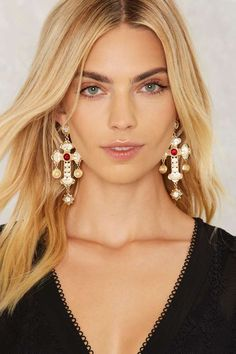 High Ruler Cross Earrings | Shop Accessories at Nasty Gal!