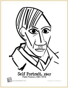 60 best picassos kids frode svane images pablo picasso spanish Elio Car Colors self portrait picasso free printable coloring page