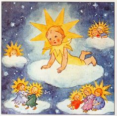 The Little Star  Out of a billion stars  here am I just this one,  Turning up my distant face  Like any other sun.  Quietly giving light  Is all the joy I know,  Sharing all my own delight  With everyone I know.