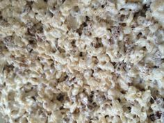 My fav - Browned butter and sea salt chocolate/regular mixed Rice Krispies. Add one stick of butter in a pan, put on med-low heat and let foam, then keep scraping bottom of pan while stirring. Butter should turn a nutty light brown. Add 10 ounce bag of mini marshmallows, stir, then add 1 heaping tsp of ground sea salt. Once marshmallows are melted add three cups Rice Krispies and 3 cups cocoa Krispies. If you want them a little more salty I sometimes sprinkle a little extra sea salt on top.