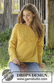 Free knitting patterns and crochet patterns by DROPS Design Sirdar Knitting Patterns, Lace Knitting, Knitting Stitches, Knit Crochet, Drops Design, Jumper Patterns, Knit Patterns, Knitwear Fashion, Sweaters For Women