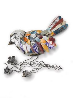 Recycled Metal Bird Wall Art