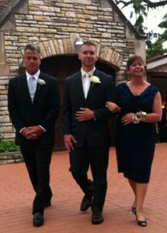 Walking in to the ceremony