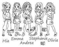 Lego Friends Coloring Pages Sketch Template