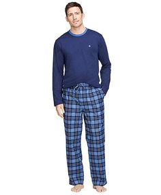 40190335a2 Men s Tartan Flannel Lounge Set Mens Sleepwear