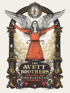 (poster by the avett brothers. poster art by zeb love.)