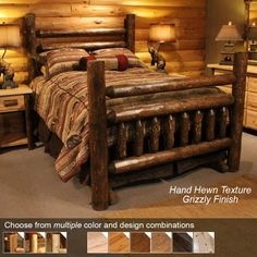 Log Bedroom Sets Cool Grizzly Log Bedroom Sets Loft Bedrm  Bedrooms  Pinterest  Log Decorating Inspiration