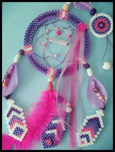 "Collection Attrape-Rêve ""DREAM "" - Dreamcatcher hama perler beads by magic-perles"