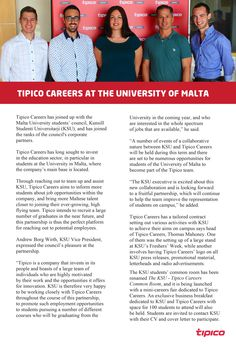 With this article we give you a glance in the future of KSU - Kunsill Studenti Universitarji and Tipico Careers!