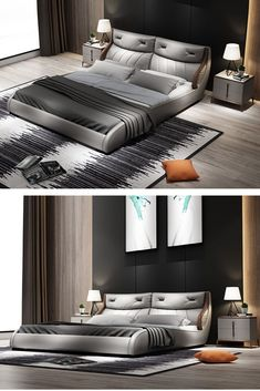 Brand: Sipem from China Bedding Master Bedroom, Grey Bedding, Bedroom Furniture, Furniture Design, Bedroom Decor, Double Bed With Storage, Double Bed Designs, Couple Bed, Interior Decorating