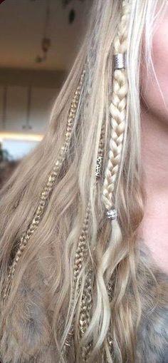 New hair accessories for braids plaits ideas Viking Braids, Viking Hair, Boho Hairstyles, Pretty Hairstyles, Easy Hairstyle, Bridal Hairstyle, Hairstyle Ideas, Hair Day, New Hair