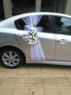 #zuhausedekorationselbermachen Wedding Car Decorations, Wedding Themes, Wedding Designs, Wedding Ideas, Bridal Car, Wedding Chairs, Wedding Bells, Wedding Bouquets, Rustic Wedding