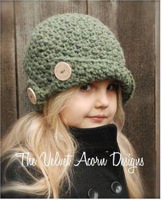Crochet PATTERN-The cerda Cloche' tamaños niño por Thevelvetacorn