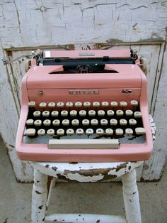 so cute! would be a fun guest book, have people type a note and their name on the paper.