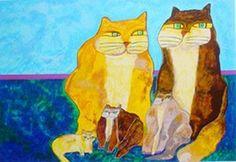 Família de 4 gatos - Family of 4 Cats | Serigraph | Aldemir Martins