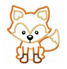 Fox Applique Machine Embroidery Design
