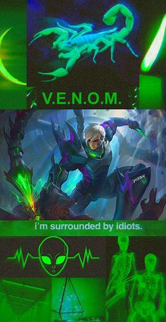 Im Surrounded By Idiots, Mobile Legend Wallpaper, Anime Art Fantasy, Mobile Legends, Venom, Game, Gaming, Toy, Games