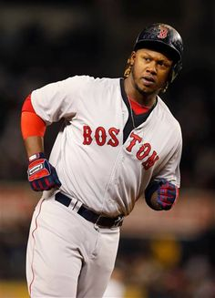 Boston Red Sox Hanley Ramirez runs the bases after hitting a fifth-inning, solo home run off New York Yankees starting pitcher Masahiro Tanaka in a baseball game in New York, Sunday, April 12, 2015.