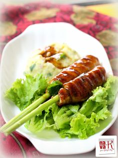 nava-k: Lemongrass Chicken Kebab (With Spicy Mashed Potatoes)