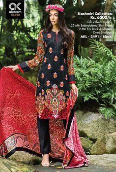 Formal Wear Suits For Girls By Alkaram From 2014 & 2015 Pakistani Street Style, Pakistani Designers, Pakistani Outfits, New Fashion, Luxury Fashion, Winter Collection, Formal Wear, Dress Brands, Designer Dresses