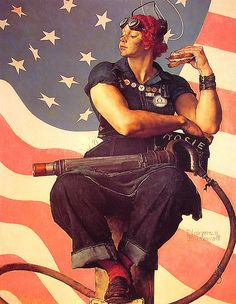 Norman Rockwell's Rosie the Riveter. A 52 X 40 oil on canvas painting created in 1943 and used as the cover image for the Saturday Evening Post.