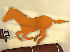 3D Wandtattoo mit Pferdemotiv in Wunschfarbe - cooles Geschenk für  Pferdenarren