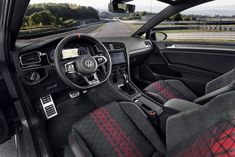 VW Golf GTI TCR: fastest road-legal Golf gets official Volkswagen Golf, Bugatti, Cool Cars, Race Cars, Classic Cars, Photo Galleries, Racing, Interior Accessories, Car Accessories