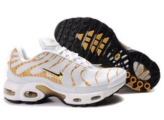 quality design 2497e c5bc9 Nike Air Max 97 Nike Air Max TN White Gold  Nike Air Max TN - Attractive Nike  Air Max TN White Gold sneakers showed here are marked with high quality and  ...