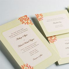 Brides: Beach Wedding Invitations