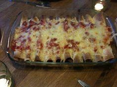 Billig og god middag: Enchiladas Garam Masala, Tex Mex, Burritos, Enchiladas, Lasagna, Quiche, Food To Make, Pizza, Cheese