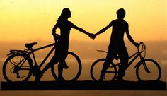 Holding Hands Couple with Bicycles Handmade Original Papercut First Anniversary Gift: Hand-Cut Paper Art Silhouette Promise Day Images, Happy Promise Day, Paper Cutting, Cut Paper, Bicycle Wedding, Licht Box, Girly M, 1st Anniversary Gifts, Love Wallpaper