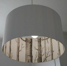 Cole And Son The Woods Silhouette Lampshades In White by Love Frankie Ltd, the perfect gift for Explore more unique gifts in our curated marketplace. Painting Lamp Shades, Painting Lamps, Luminaria Diy, Wooden Lampshade, Painted Lampshade, Cover Lampshade, Diy Lampshade, Deco Luminaire, Rustic Lamps
