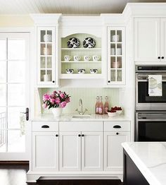 love the addition at end of cabinets, add and possibly paint all one color home interior design  #KBHome