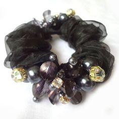 20pcs/lot Free Shipping Woman Hair Scrunchy Chiffon Crystal Hair band Ponytail hair ties Elegant GOOD QUALITY. $39.23
