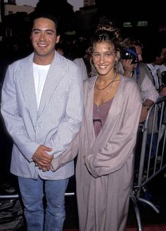 Sarah Jessica Parker And Robert Downey Jr. Were The It Couple Of The 80s.....s'cute