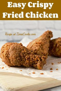 This super tender, juicy, and Crispy Fried Chicken for Two is sure to be a re-peat dinner in your house. The secrets to this chicken are soaking it in buttermilk for up to two hours and adding bacon grease to the frying oil. #chicken #FriedChicken #RecipesForTwo #DinnerForTwo #LunchForTwo Chicken Breast Recipes Healthy, Yummy Chicken Recipes, Yum Yum Chicken, Dinner Dishes, Food Dishes, Crispy Fried Chicken, Frying Oil, Turkey Dishes, Meals For Two