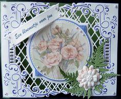Voorbeeldkaart - een bloemtje - Categorie: Stansapparaten - Hobbyjournaal uw hobby website
