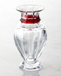 BACCARAT Medium Red Harcourt Balustre Vase