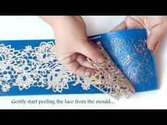 Cake Lace Edible | By Karens UK | Demo using the 3D Chanel Fabric Cake Lace Mat - YouTube