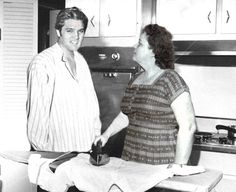 RARE: Elvis and Gladys - At first Gladys wouldn't hear of other people doing her housekeeping, only her.