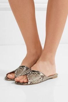 Gabriela Hearst - Julie Python Slides - Snake print - IT37.5